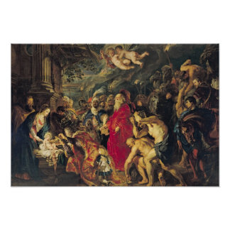 Adoration of the Magi, 1610 Poster