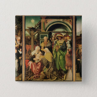 Adoration of the Magi 2 2 Inch Square Button