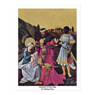 Adoration Of The Magi By Baldung Hans Postcard