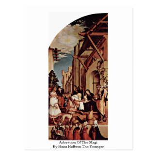 Adoration Of The Magi By Hans Holbein The Younger Postcard
