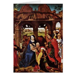 Adoration Of The Magi By Rogier Van Der Weyden Card
