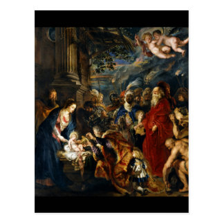 Adoration of the Magi by Rubens Postcard