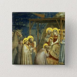 Adoration of the Magi, c.1305 2 Inch Square Button