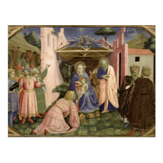 Adoration of the Magi, from the predella Postcard