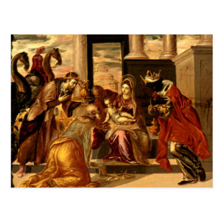 Adoration of the Magi - Greco Postcard