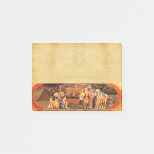 ADORATION OF THE MAGI NATIVITY PARCHMENT POST-IT® NOTES