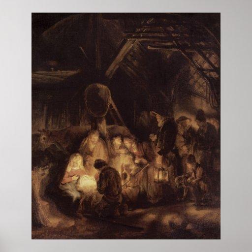 Adoration of the Shepherds, 1646 Print