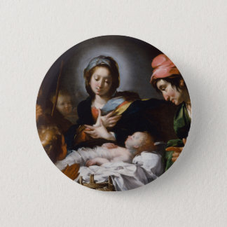 Adoration of the Shepherds 17th Century 2 Inch Round Button
