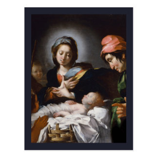 Adoration of the Shepherds 17th Century Postcard