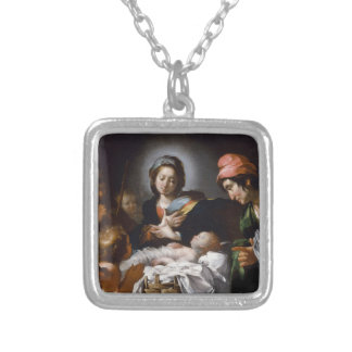 Adoration of the Shepherds 17th Century Silver Plated Necklace
