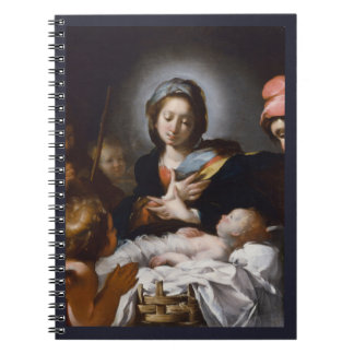 Adoration of the Shepherds 17th Century Spiral Notebook