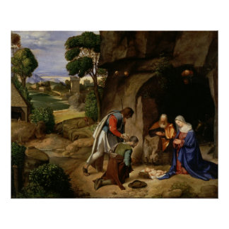 Adoration of the Shepherds by Giorgio da Castelfra Poster
