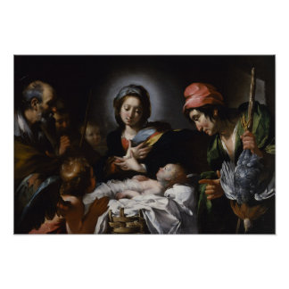 Adoration of the Shepherds, circa 1615 Poster