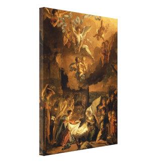 Adoration of the Shepherds Fine Art Christmas Canvas Print