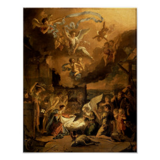 Adoration of the Shepherds Fine Art Christmas Poster