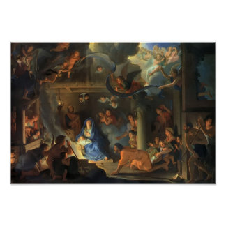 Adoration of the Shepherds Le Brun Poster
