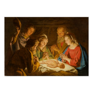Adoration of the Shepherds Matte Poster