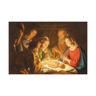 Adoration of the Shepherds Wrapped Canvas Art
