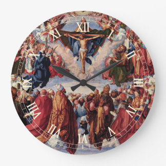 Adoration of the Trinity by Albrecht Durer, 1511 Large Clock