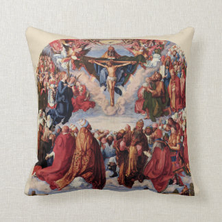 Adoration of the Trinity by Albrecht Durer, 1511 Throw Pillow