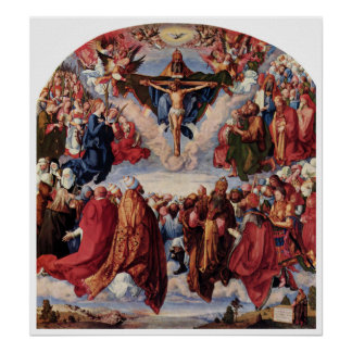 Adoration of the Trinity by Albrecht Durer Poster