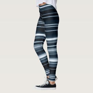 Adore Blue Lightning Striped Leggings