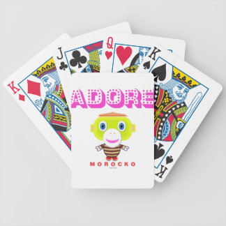 Adore -Cute Monkey-Morocko Bicycle Playing Cards