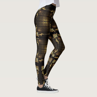 adore golden royal leggings