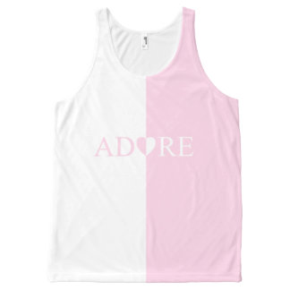 Adore Pink Heart Amour Love Design Tank