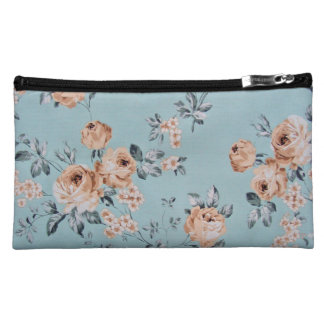 Adoring Flowers - Cosmetic Suede 8x5 Makeup Bag
