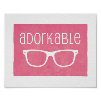 """Adorkable"" print"