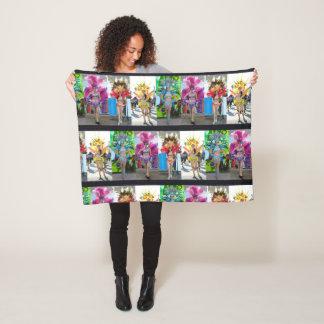 adorn sleep well samba dancers show girl gift fleece blanket