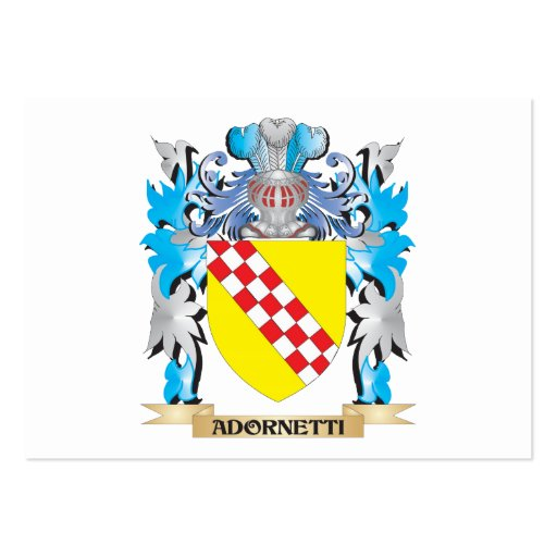 Adornetti Coat Of Arms Business Card Template
