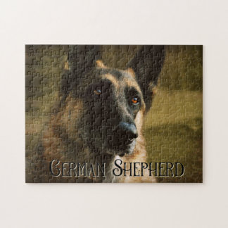 Adoroing German Shepherd Photo Jigsaw Puzzle