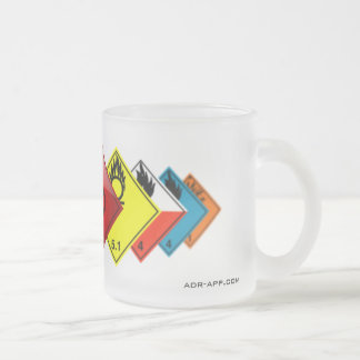 ADR Dangerous Goods Frosted Glass Coffee Mug
