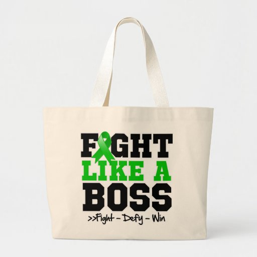 Adrenal Cancer Fight Like a Boss Tote Bags