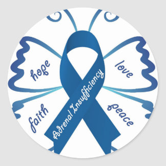Adrenal Insufficiency: We Need Your Support Round Sticker