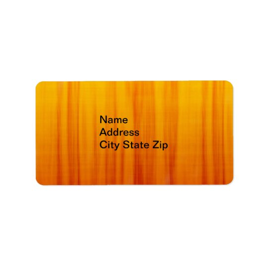Adress Label in orange background