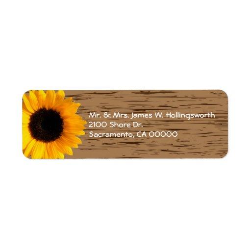 Adresse de retour faite sur commande en bois de gr étiquettes d'adresse retour