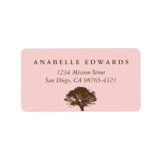 Adresse éternelle rose de joint d'enveloppe de chê étiquettes d'adresse