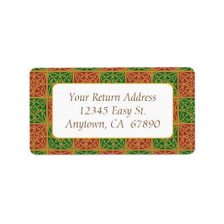 Adresse faite sur commande Green Fleur de Lis Labe Étiquettes D'adresse