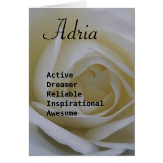 Adria Greeting Card