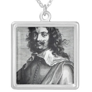Adriaen Brouwer, engraved by Edme de Boulonois Silver Plated Necklace