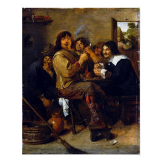 Adriaen Brouwer The Smokers Poster