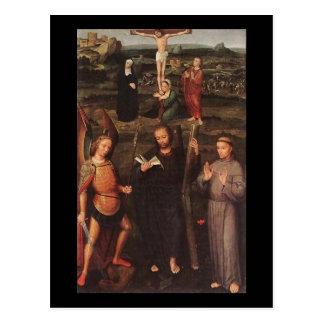 Adriaen Isenbrandt Archangel St Michael St Andrew Postcard