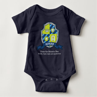 Adrian boys A name & meaning knights shield Baby Bodysuit