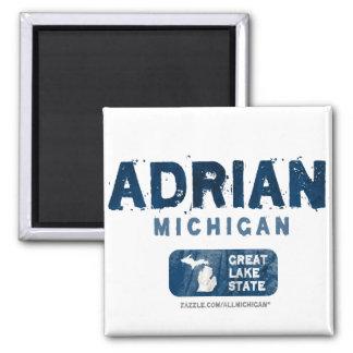 Adrian Michigan Great Lake State Square Magnet