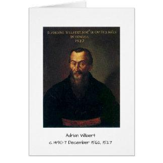 Adrian willaert card