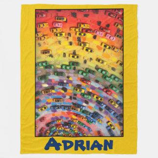 Adrian - Yellow Fleece Blanket