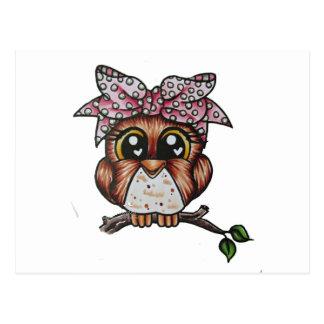 Adriana's Owl by Cheri Lyn Shull Postcard